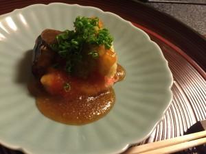 茄子とエビの天ぷらあんかけIMG_0605