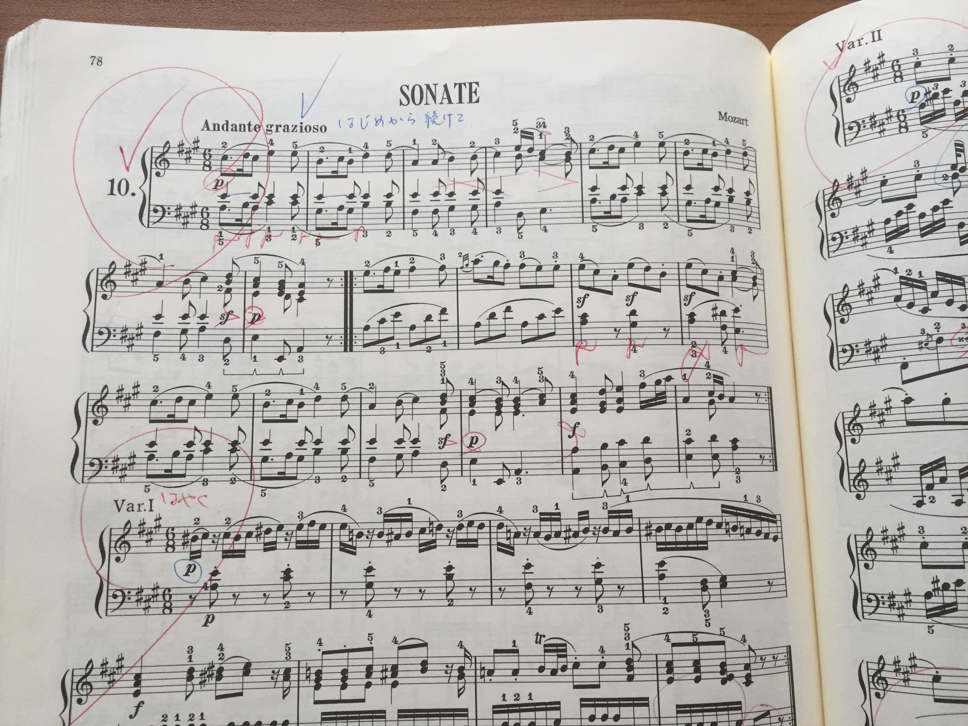 度 モーツァルト 難易 ピアノ ソナタ